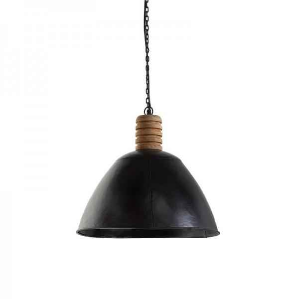 lampa wisząca metalowa czarna 15132A
