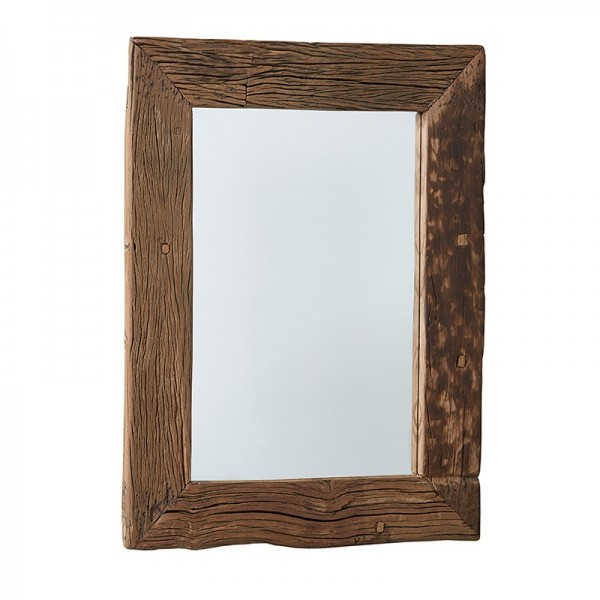 lustro w drewnianej ramie 16509