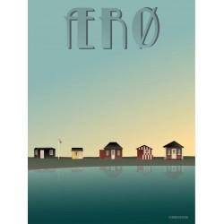 Aero badehusene plakat