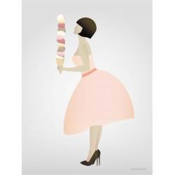 Ice cream Lady plakat