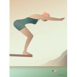 The swimmer plakat