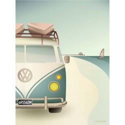 VW camper plakat