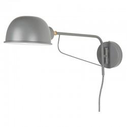 kinkiet metalowy szary 2846-18