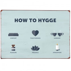tabliczka How to Hygge 8995-00