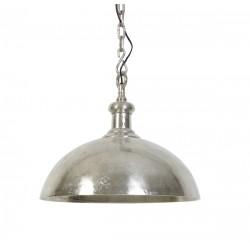lampa wisząca metalowa srebrna Adora 3034357