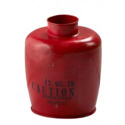 dekoracja metalowa czerwona 9716 duża