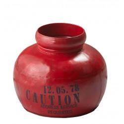 dekoracja metalowa czerwona 9716 mała