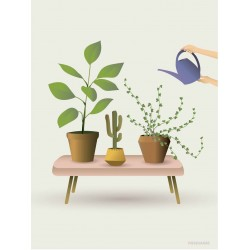 Growing plants plakat