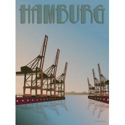 Hamburg Cranes plakat