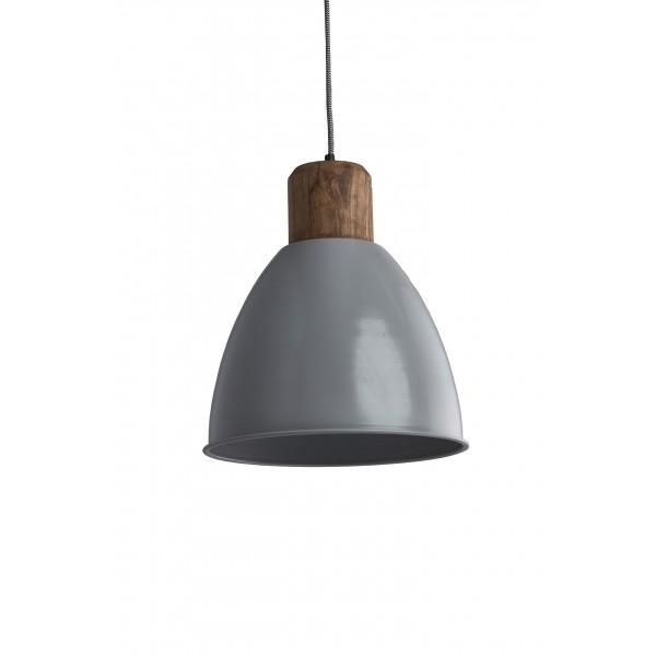 Lampa wisząca metalowa szara Kinihome 17343