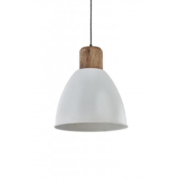 Lampa wisząca metalowa biała Kinihome 17343