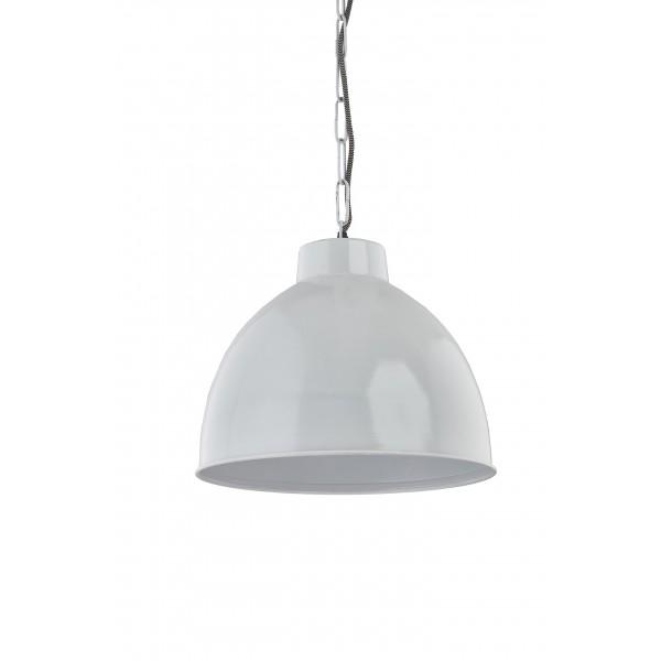 Lampa wisząca metalowa biała Kinihome 17299