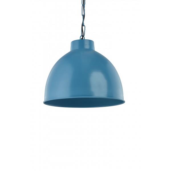 Lampa wisząca metalowa niebieska Kinihome 17299