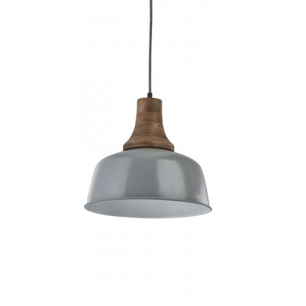 Lampa wisząca metalowa szara Kinihome 17337