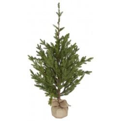 drzewko sosna z podstawką z juty 2797-00