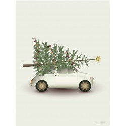 Christmas tree & little car plakat Vissevasse